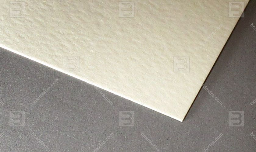 Cardboard Tintoretto crema business card photo