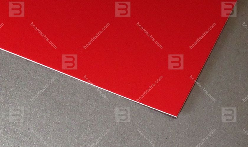 Cardboard Touche Cover bright red