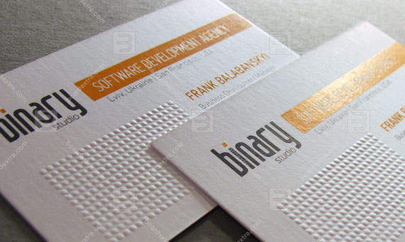 Business card for IT company «BINARY»