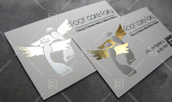 Beauty company «Foot care fairy» business card
