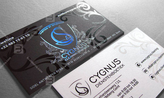 Business card for cleaning service