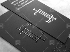Business card thermography order