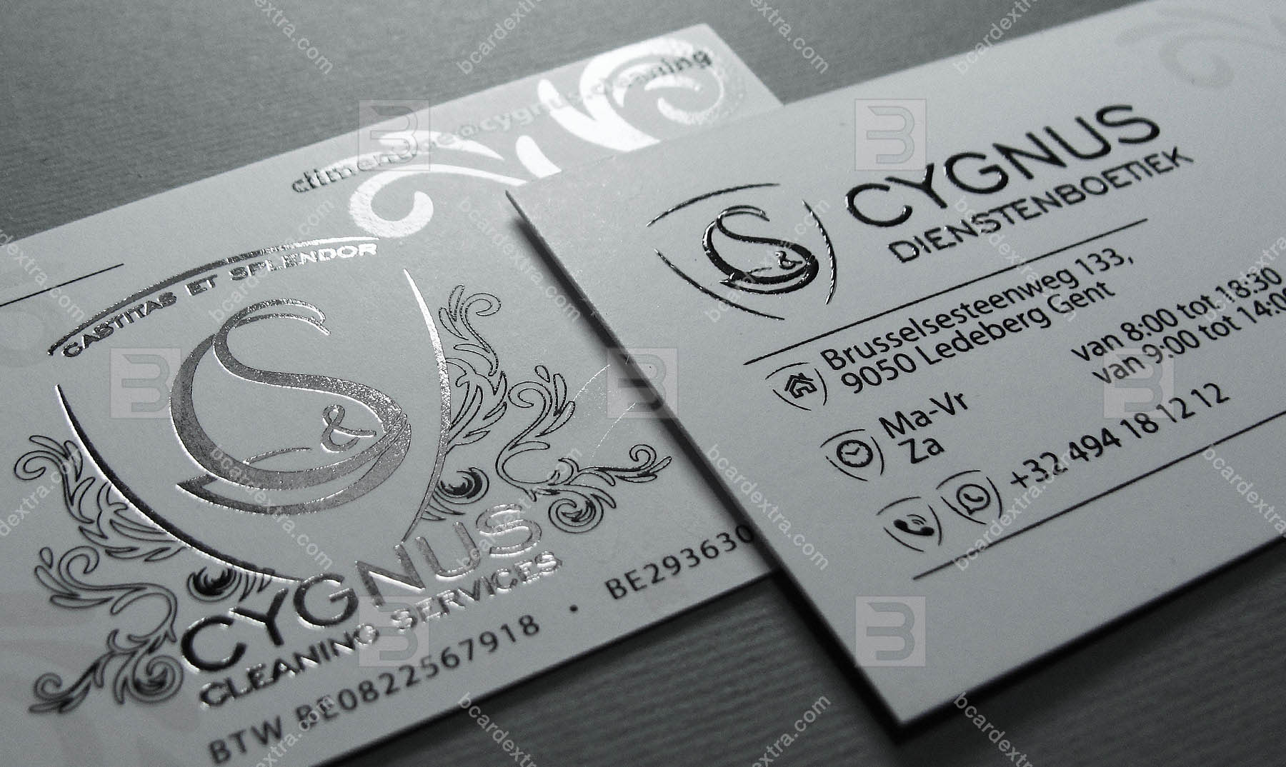 business card hot stamping order  business card stamping