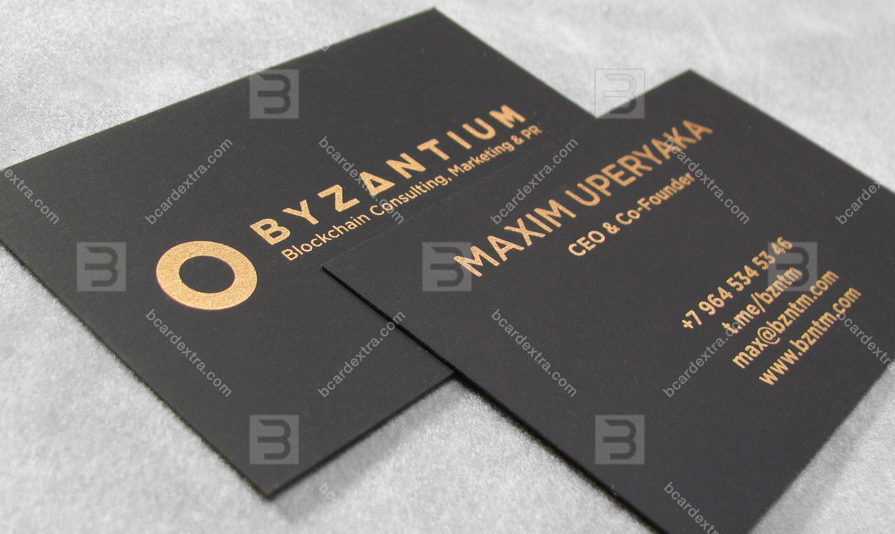 Order Business Card Printed With Bronze Tow Sided Silk