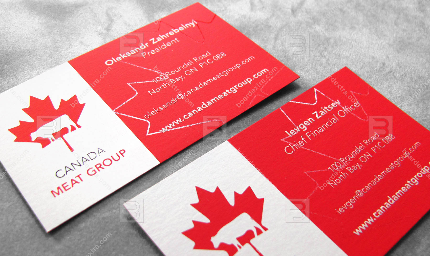Order Business Card Printed With Black White Silk Screen