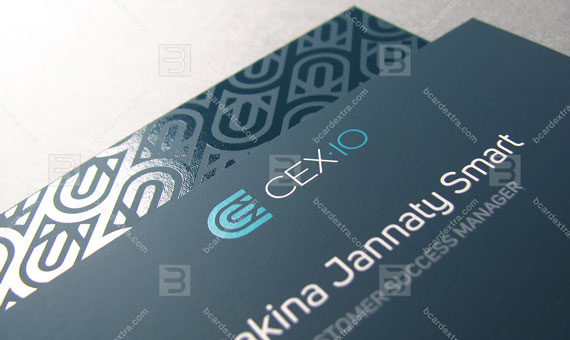 Business card for «CEX.IO» IT company