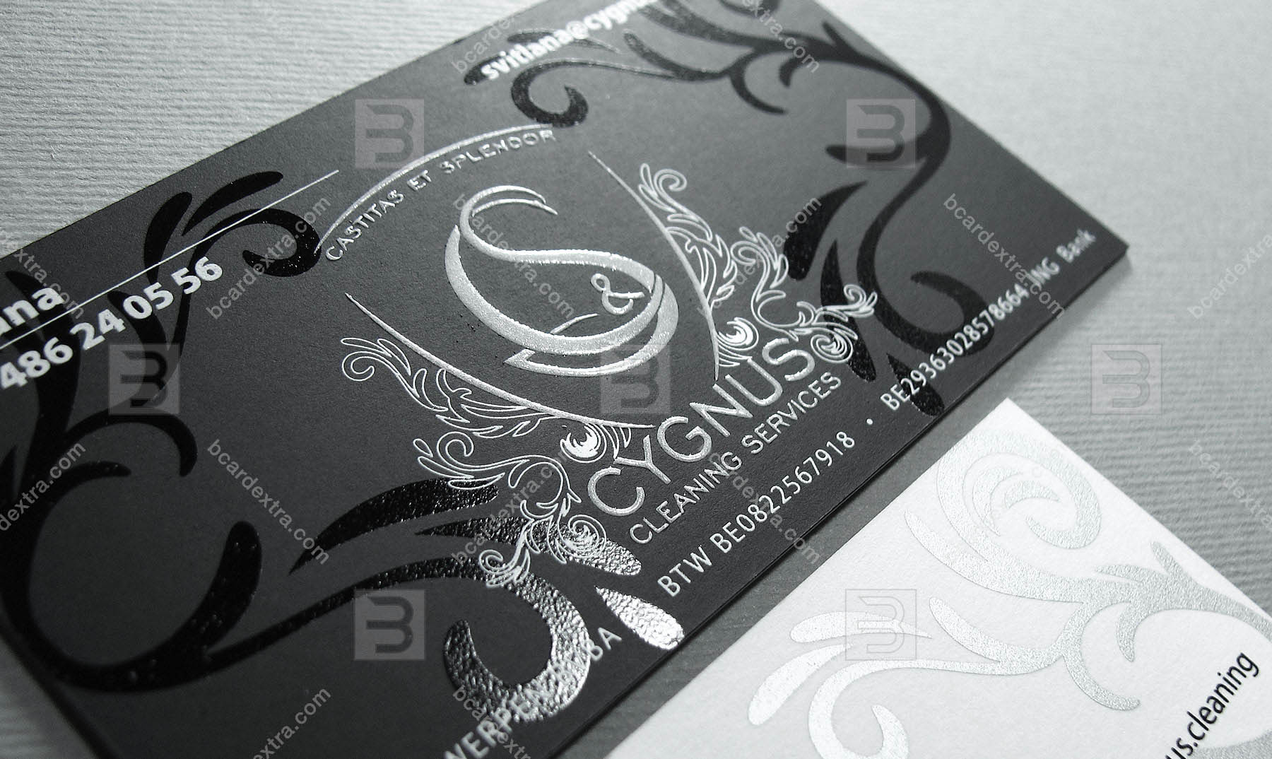 Order Business Card Made With White Black Silver Silk Screen