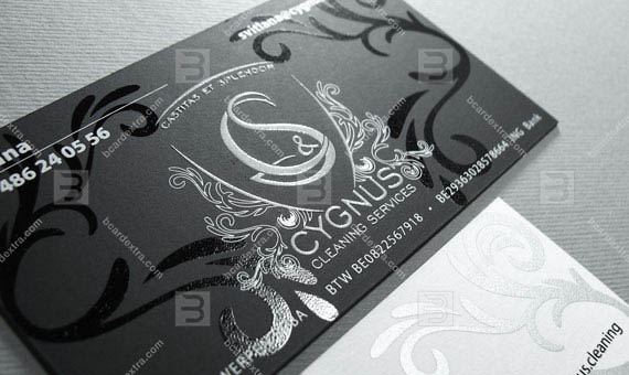 Business card «CYGNUS» silk screen duplex